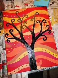 Neat painting project to do with kids.
