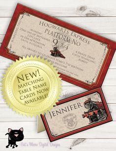 Billedresultat for harry potter table cards