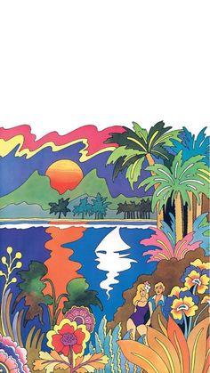 Kunst Inspo, Art Inspo, Art And Illustration, 60s Art, Hippie Painting, Funky Art, Poster Prints, Art Prints, Posters