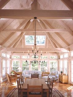 Post and Beam | I would probably not paint the cross beams, other than that I love this.