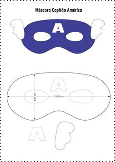 Beautiful masks for children& parties from felt - Free templates ★★ â . Captain America Maske, He Man Tattoo, Anniversaire Captain America, Diy For Kids, Crafts For Kids, Felt Mask, Mask Template, Beautiful Mask, Mask For Kids