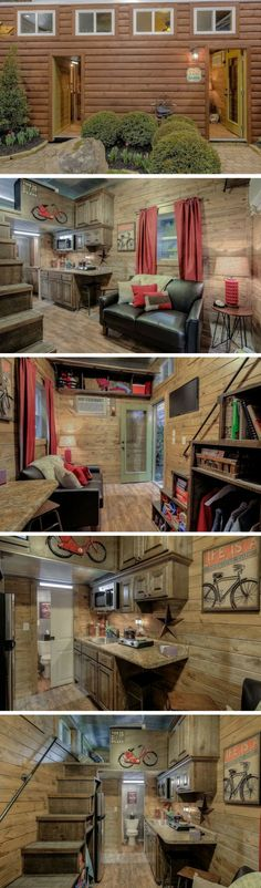 Rustic Tiny Shipping Container Cabin