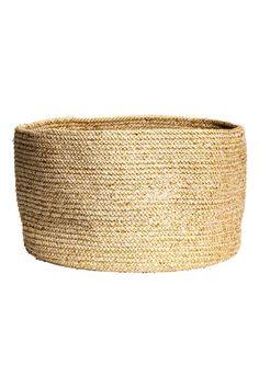 Glittery storage basket: Sturdy storage basket in marled cotton containing glittery threads. Height 23 cm, diameter approx. 35 cm.