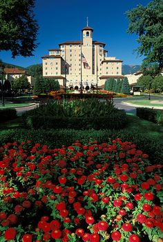 """Image of the Broadmoor Hotel in Colorado Springs, Colorado.  We lived 3 blocks from here in the """"60's"""" ~~~ beautiful place!!"""