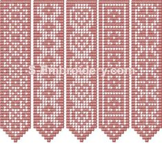 10411 Free standing lace crochet bookmarks - A set of 5 freestanding lace crochet machine embroidery designs.You receive 5 machine embroidery files as well as design information and instructions in PDF format. Filet Crochet, Crochet Motifs, Crochet Cross, Crochet Chart, Thread Crochet, Crochet Lace, Crochet Stitches, Crochet Bookmark Pattern, Crochet Bookmarks
