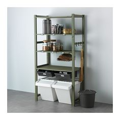 IVAR 1 section unit w/shelves & drawers, pine, gray $110