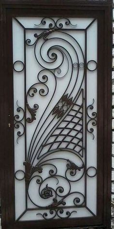 single door panel - Cucinando X Door Grill, Window Grill Design, Metal Gates, Wrought Iron Doors, Tor Design, Door Gate Design, 3d Cnc, Steel Art, Iron Furniture