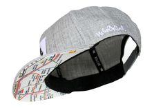 153af72bd2fcf  Nebelkind Berlin  Snapback - Heather grey snapback cap with Berlin  Underground network printed beneath