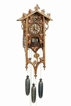 Model #8TMT 540/9  Long Case Cuckoo Clock, Animated Dancers, Musical, Very ornate.