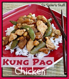 Kung Pao Chicken recipe on SixSistersStuff.com