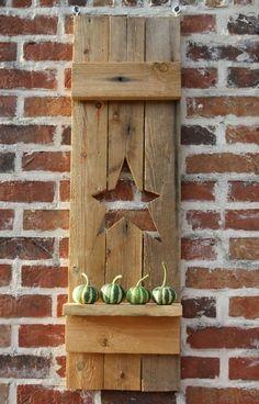 DIY barnwood shutter Always loved this shutter style