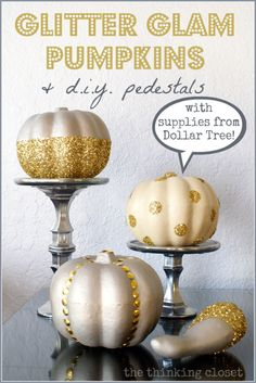 Sweetly Chic Events Favorite Pins of the Week DIY Glitter Glam Pumpkins