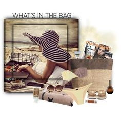 """What's in My Beach Bag"" by sherry7411 on Polyvore"