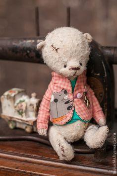 Пятый..Кокосик - белый,мишка,тедди,9медвежат,любовь,история,винтаж,время