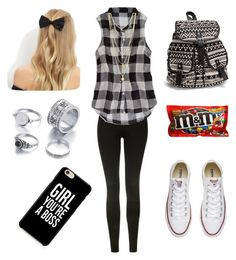 """"" by allieyang11 ❤ liked on Polyvore featuring Topshop, American Eagle Outfitters, NLY Accessories, Converse and New Look"
