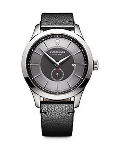 Victorinox Swiss Army Sterling Silver Leather Banded #Wristwatch