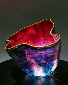 7 Glass Art Sculptures from Dale Chihuly 7 Glaskunst-Skulpturen von Dale Chihuly – Glaskunst Art Of Glass, Blown Glass Art, Glass Artwork, Stained Glass Art, Fused Glass, Glass Beads, Glass Vase, Glass Jewelry, Wine Glass