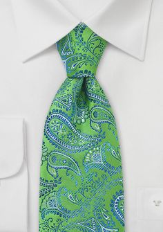 Krawatte Paisleys grün