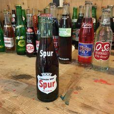Vintage Spur Canada Dry soda bottle full