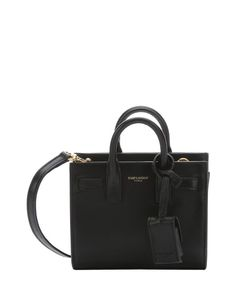 Saint Laurent black leather 'Sac Du Jour' convertible toy shoulder bag