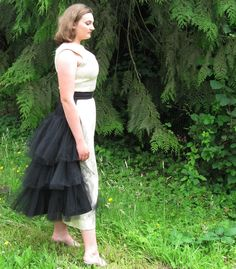 Black Steampunk Victorian Overskirt  Neat idea to get a few useful pieces for mix-and-match