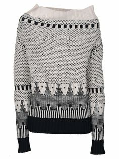 unique abstract sweater intarsia | pattern