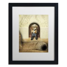 New Mouse In Town by J Hovenstine Studios Framed Graphic Art