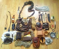 My somewhat traditionalist gear/medicine bag. Hunting, camping, wilderness survival, the old fashioned way. #survivalgear