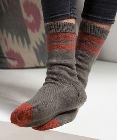 Hugh's Socks Free Knitting Pattern from Red Heart Yarns