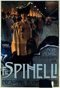 F.lli Spinelli - magazzini abbigliamento, Napoli - Mario Borgoni - 1904