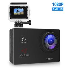 Action Camera 1080P 12MP Waterproof Sports Cam 30M Underwater Diving Camera with 170 Wide Angle image