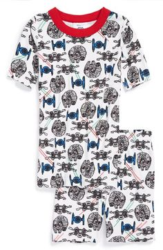 Hanna+Andersson+'Star+Wars'+Organic+Cotton+Two-Piece+Fitted+Pajamas+(Toddler+Boys,+Little+Boys+&+Big+Boys)+available+at+#Nordstrom