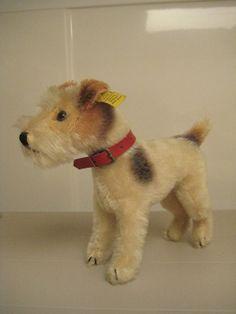 #Steiff #Vintage Foxy Fox Terrier Dog – Over 6 Inches Tall – EAN 4220/17  #FoxTerrier