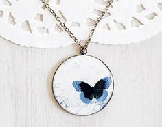 Blue Butterfly Cameo