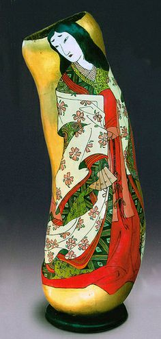 Whitney Peckman | gourd art |  painted and carved gourd