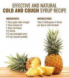 Health House Assorted Styles: Pineapple Juice RecipeMore Effective Than Cough Syrup - Remedies Home Remedy For Cough, Natural Cough Remedies, Cold Home Remedies, Herbal Remedies, Cooking With Turmeric, Cough Syrup, Pineapple Juice, Natural Healing, Holistic Healing