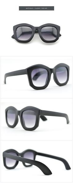 Black Sunglasses-Modern Times-New style-Square glasses- Thicker frame-Fashion glasses Sunglasses 2014, Cool Sunglasses, Modern Times, Matte Black, Eyewear, Shades, Frame, Fun, Style
