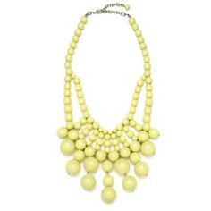 "Bauble Statement Necklace Bold statement necklace made of bright, lime green beads. 18"" length with 3"" extension. Approx 22"" drop. Never worn, but sorry, original packaging not available.   Jewelry Necklaces"