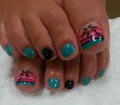 so cute toe nail design,summer nail design ideas