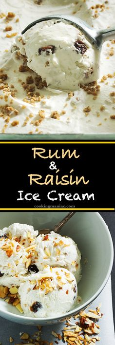 This easy rum raisin ice-cream is super creamy. The grape nut adds crunch and the raisins are overly plumped. Did I mention that this is a no churn recipe?