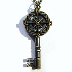 Steampunk Compass Pocket Watch Antique Style by tempusfugit, $29.99