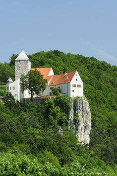 Image detail for -View of Castle Prunn from the Altmuehltal cycle trail, Altmuehl valley nature park, Riedenburg, Kelheim, Bavaria, Germany