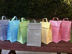 Green Gingham Lunch Bag by ReikosMonogram, $21.00