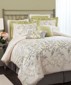 Take a look at this Green Joslyn Queen Comforter Set on zulily today!