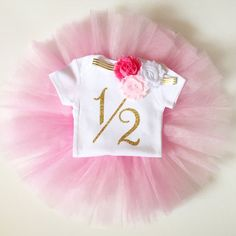 87df79d35b46 half birthday outfit light pink hot pink by PaisleyPrintsSpokane Half  Birthday