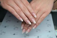 beauty, elegant, french, french nails, hand, nail, nails, nice, ombre, perfection, pinkwhite, nailspolish, nails ombre