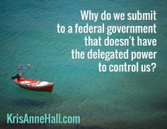 Why do we submit  to a federal government  that doesn't have  the delegated power  to control us? / KrisAnneHall.com