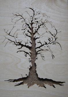 Scrollsaw Tree Faces