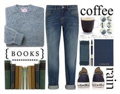 """""""coffee & books & rain"""" by amd2898 ❤ liked on Polyvore"""