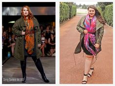Hope & Harvest Army Anorak. Curvy plus size fashion. yELLE Styling